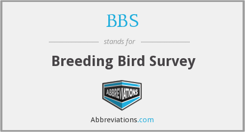 BBS - Breeding Bird Survey