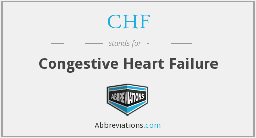 CHF - Congestive Heart Failure
