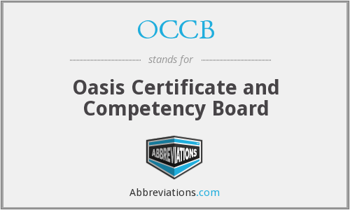 OCCB - Oasis Certificate and Competency Board