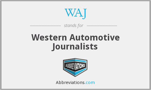 WAJ - Western Automotive Journalists