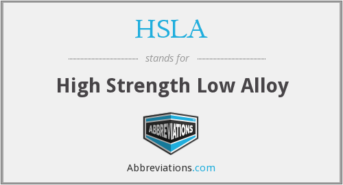 HSLA - High Strength Low Alloy