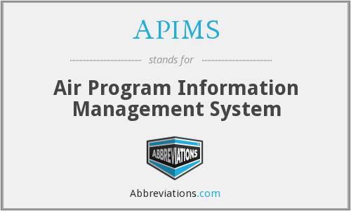 APIMS - Air Program Information Management System