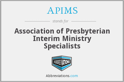 APIMS - Association of Presbyterian Interim Ministry Specialists