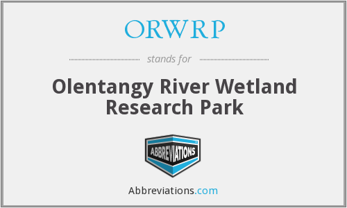 ORWRP - Olentangy River Wetland Research Park
