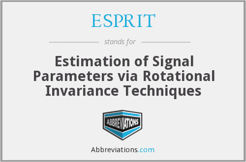 ESPRIT - Estimation of Signal Parameters via Rotational Invariance Techniques