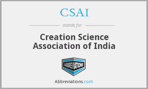CSAI - Creation Science Association of India
