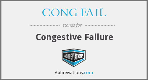What does CONG FAIL stand for?
