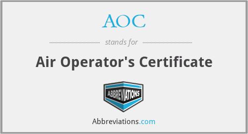 AOC - Air Operator's Certificate