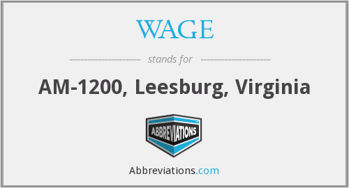 WAGE - AM-1200, Leesburg, Virginia