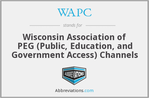 WAPC - Wisconsin Association of PEG (Public, Education, and Government Access) Channels