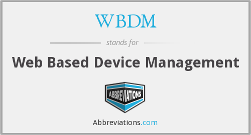 What does WBDM stand for?