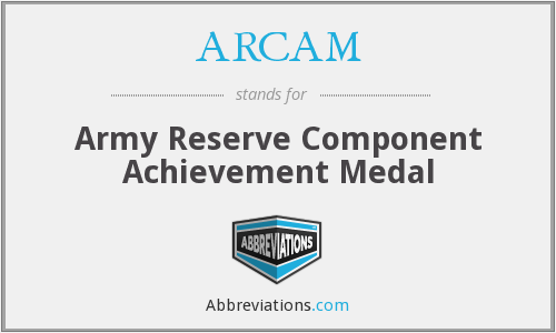 What does ARCAM stand for?