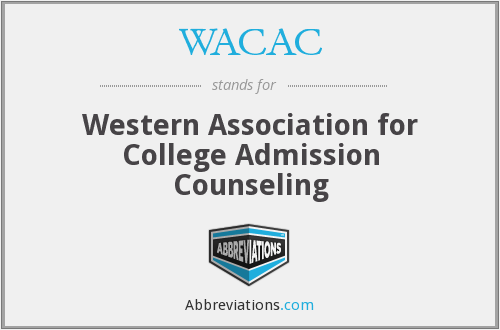 WACAC - Western Association for College Admission Counseling