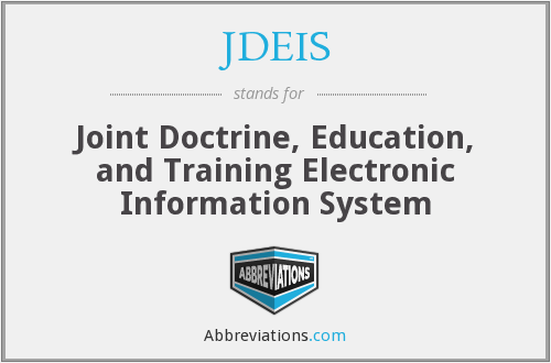 What does JDEIS stand for?