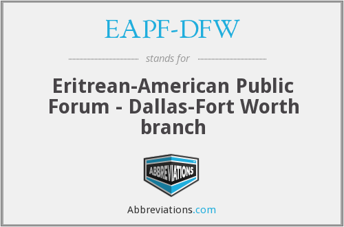 What does EAPF-DFW stand for?