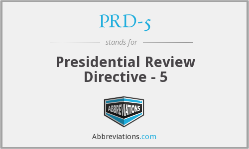 What does PRD-5 stand for?