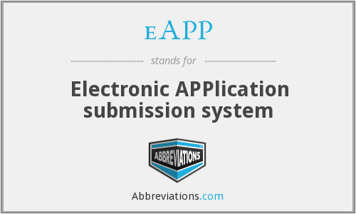 eAPP - Electronic APPlication submission system