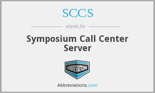 SCCS - Symposium Call Center Server
