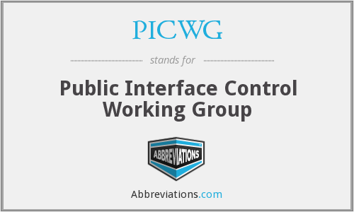 What does PICWG stand for?