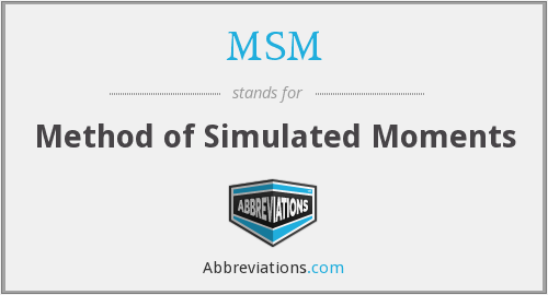 MSM - Method of Simulated Moments
