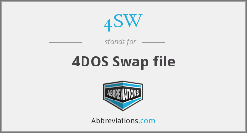 4SW - 4DOS Swap file
