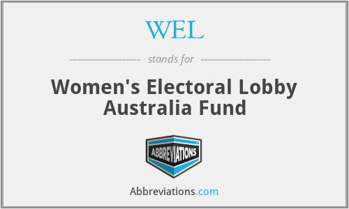 WEL - Women's Electoral Lobby Australia Fund