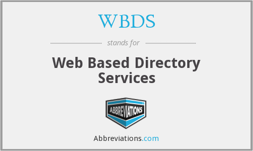 WBDS - Web Based Directory Services