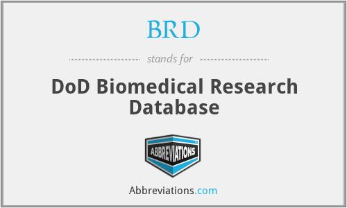 BRD - DoD Biomedical Research Database