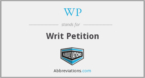 What does writ stand for?