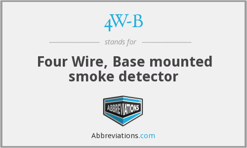 4W-B - Four Wire, Base mounted smoke detector