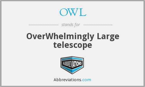 OWL - OverWhelmingly Large telescope