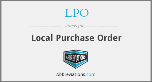 LPO - Local Purchase Order