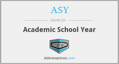 ASY - Academic School Year