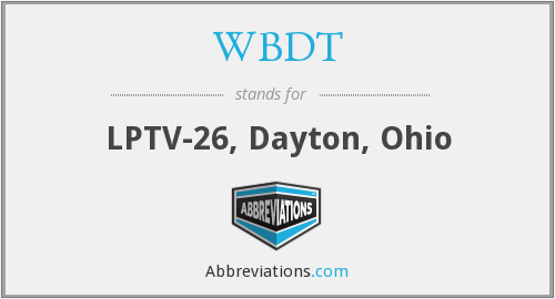 What does WBDT stand for?