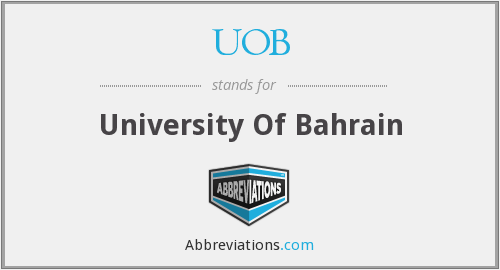 UOB - University Of Bahrain