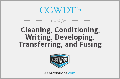 What does CCWDTF stand for?