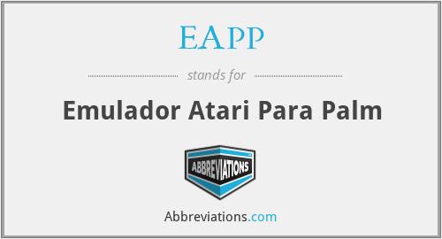 EAPP - Emulador Atari Para Palm