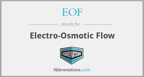 EOF - Electro-Osmotic Flow