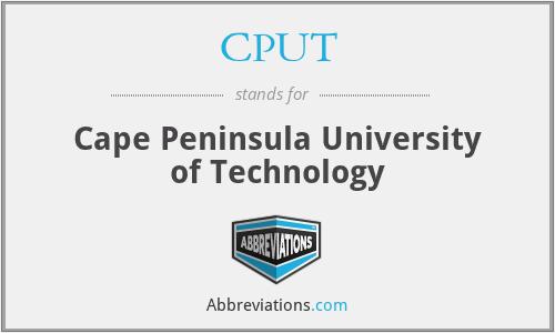 CPUT - Cape Peninsula University of Technology