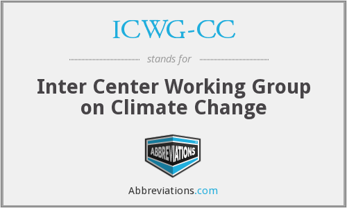 ICWG-CC - Inter Center Working Group on Climate Change