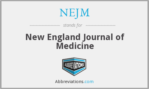 What does NEJM stand for?