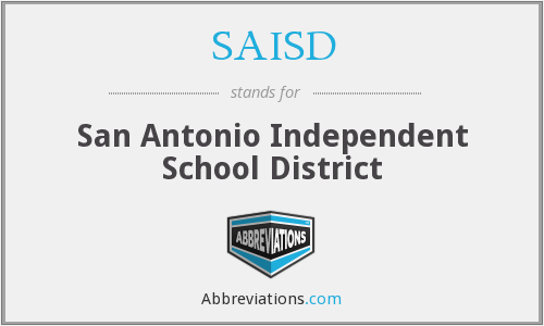 What does SAISD stand for?