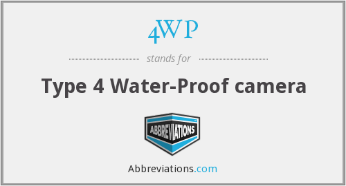 4WP - Type 4 Water-Proof camera