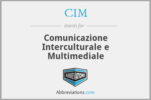 CIM - Comunicazione Interculturale e Multimediale