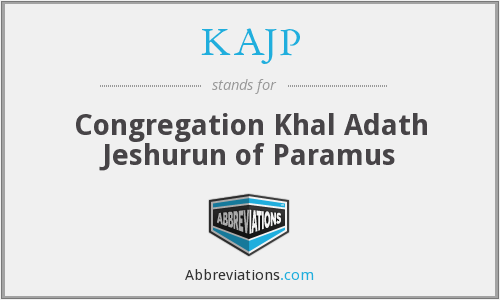 KAJP - Congregation Khal Adath Jeshurun of Paramus