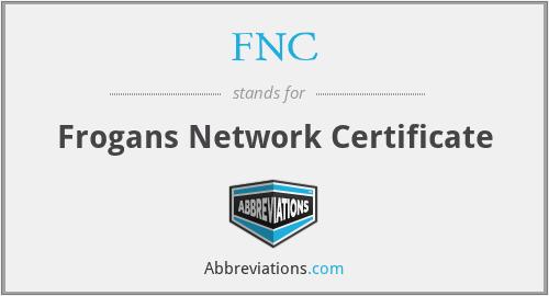 FNC - Frogans Network Certificate