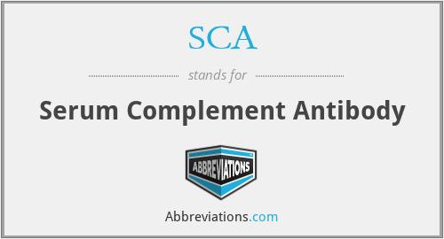 SCA - Serum Complement Antibody