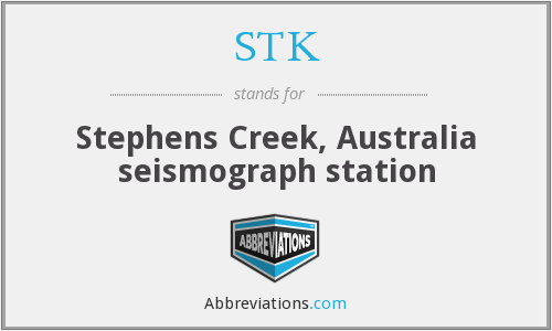 STK - Stephens Creek, Australia seismograph station