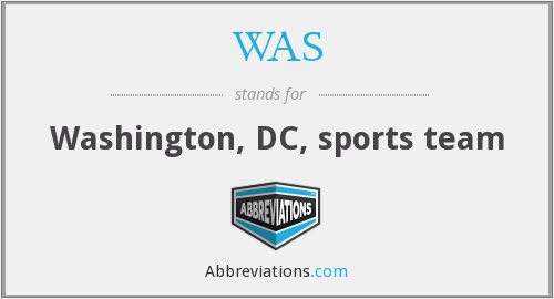 WAS - Washington, DC, sports team