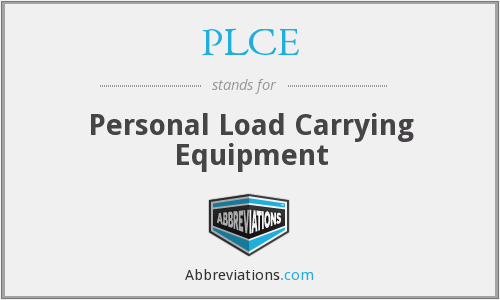 PLCE - Personal Load Carrying Equipment